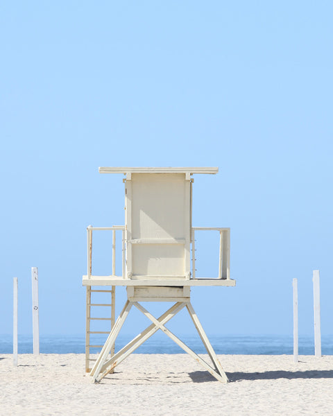 Blue Iconic Lifeguard Tower