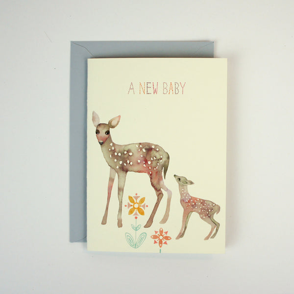 New Baby Deer Card