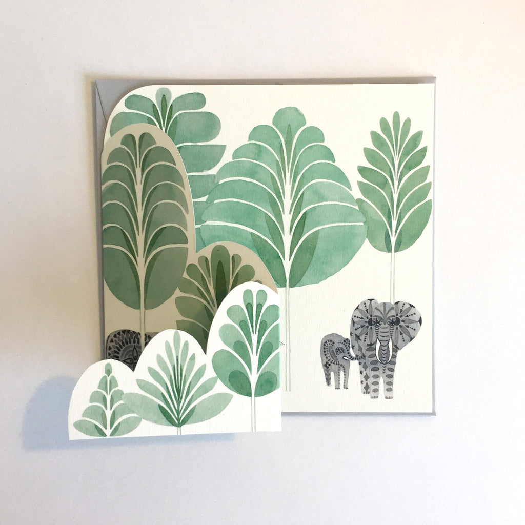Forest of Elephants Card