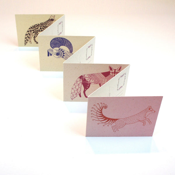 Fox Miniature Concertina Postcard Book
