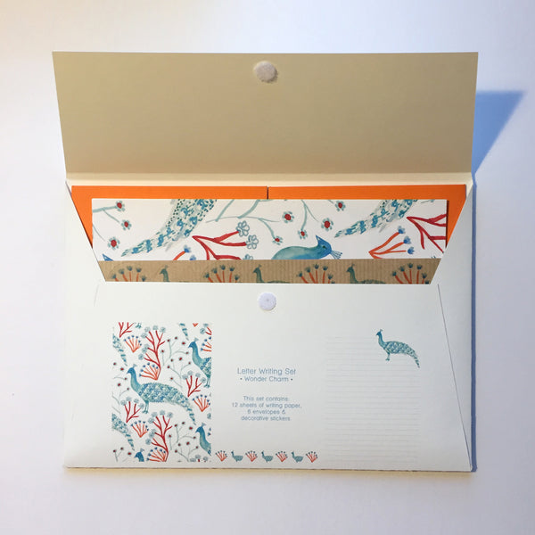 Wonder Charm Peacock Letter Writing Set