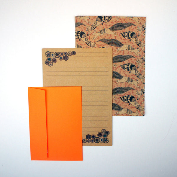 Jumping Spiral Squirrels Letter Writing Set