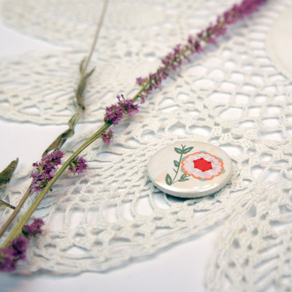 Bird and Flower Badge Set