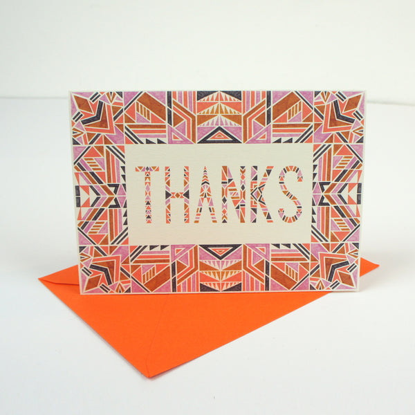 Geometric Thanks Card