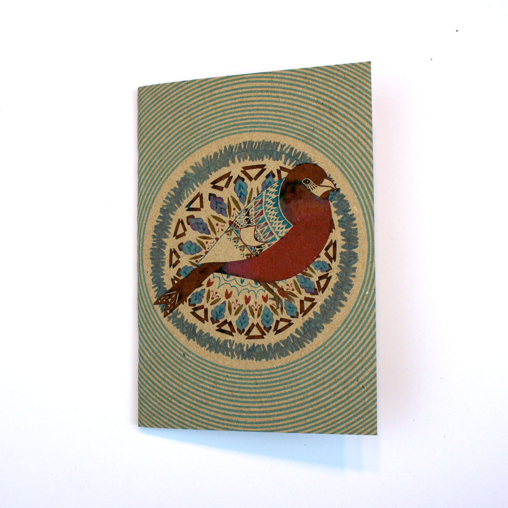 A6 Plain Notebook - Bullfinch