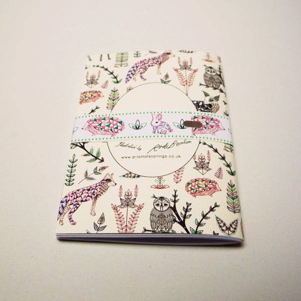 A6 Plain Notebook - Geo Forest