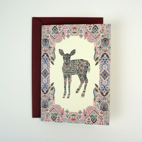 Botanist Deer Card