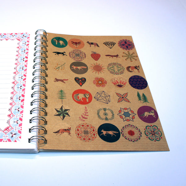 A5 Lined Notebook - with the weeds, where no colour is unwashed