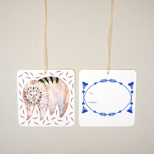 Geometric Bear Gift Tags