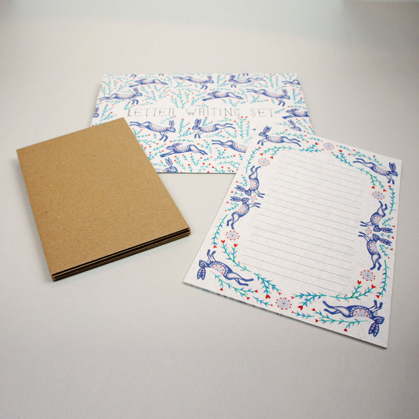 Dancing Hares Letter Writing Set