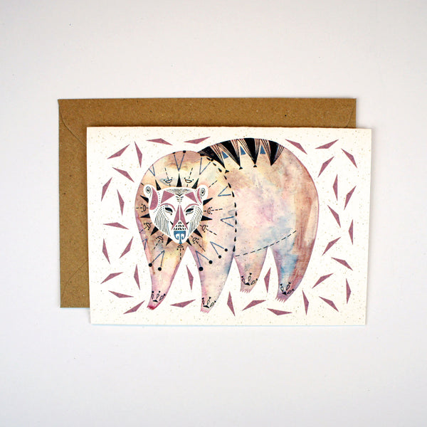 Bear and Triangles Card