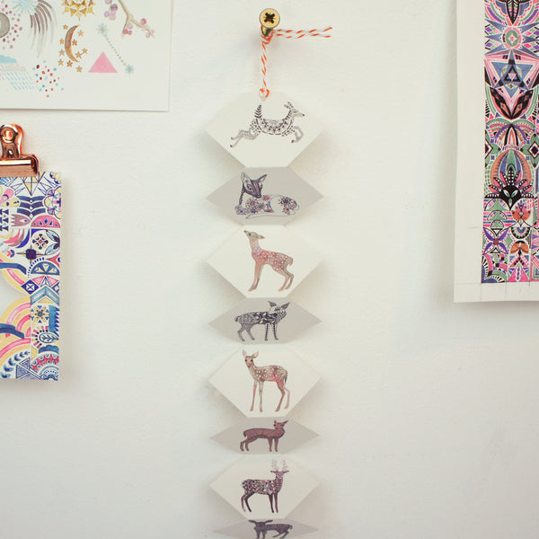 Miniature Deer Paper Hanging Decoration