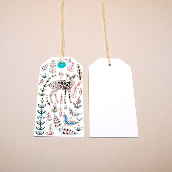 Geo Forest Gift Tags