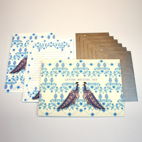 Folk Peacock Letter Writing Set