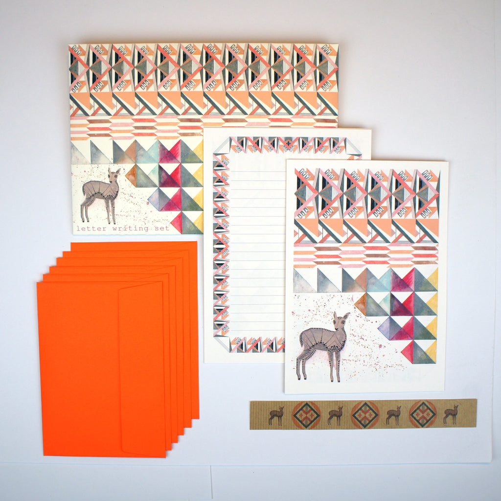 Geometric Fawn Letter Writing Set