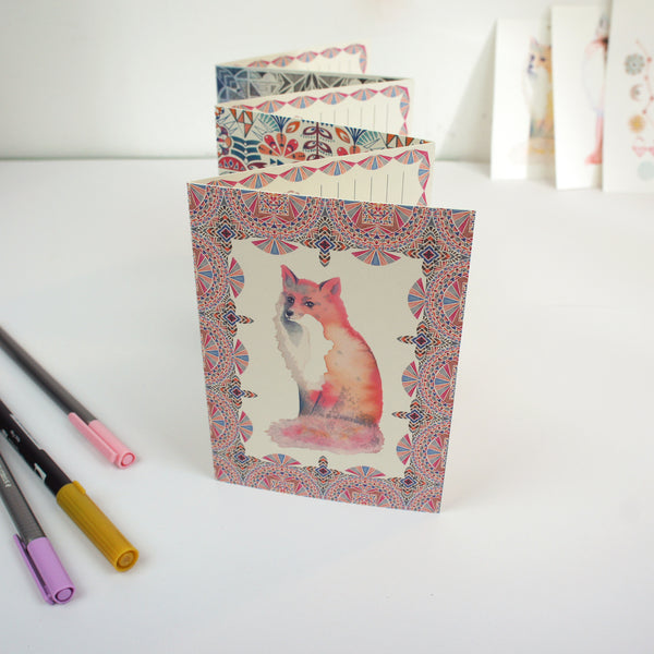 Fox Concertina Postcard Book