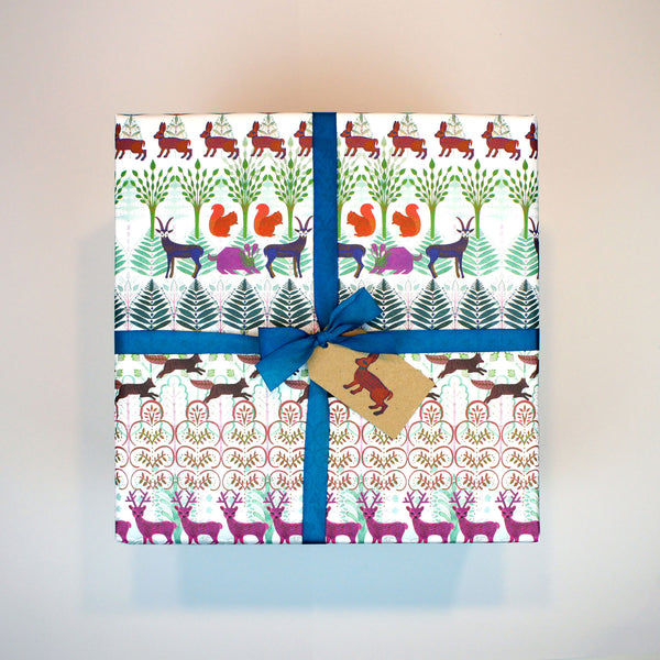 Allegretto Animals Wrapping Paper