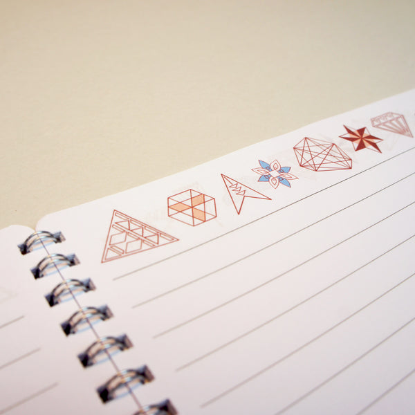 A4 Lined Notebook - Fox + Diamonds