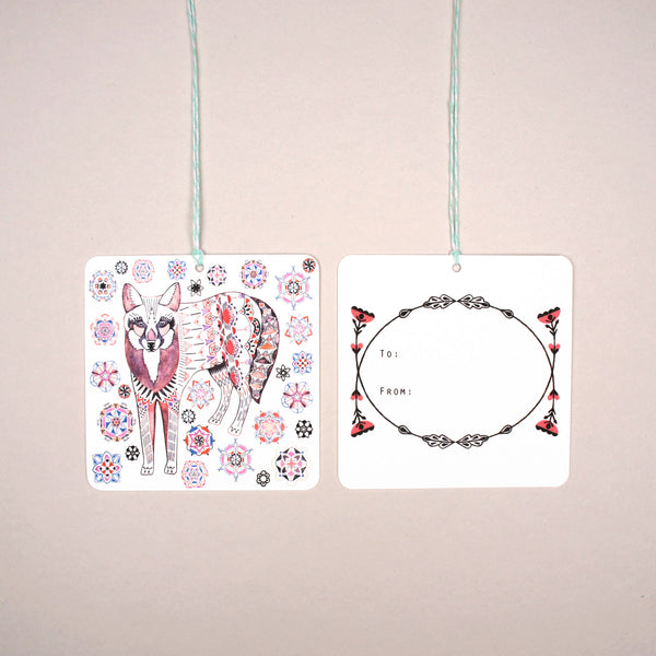 Flowery Fox Gift Tags