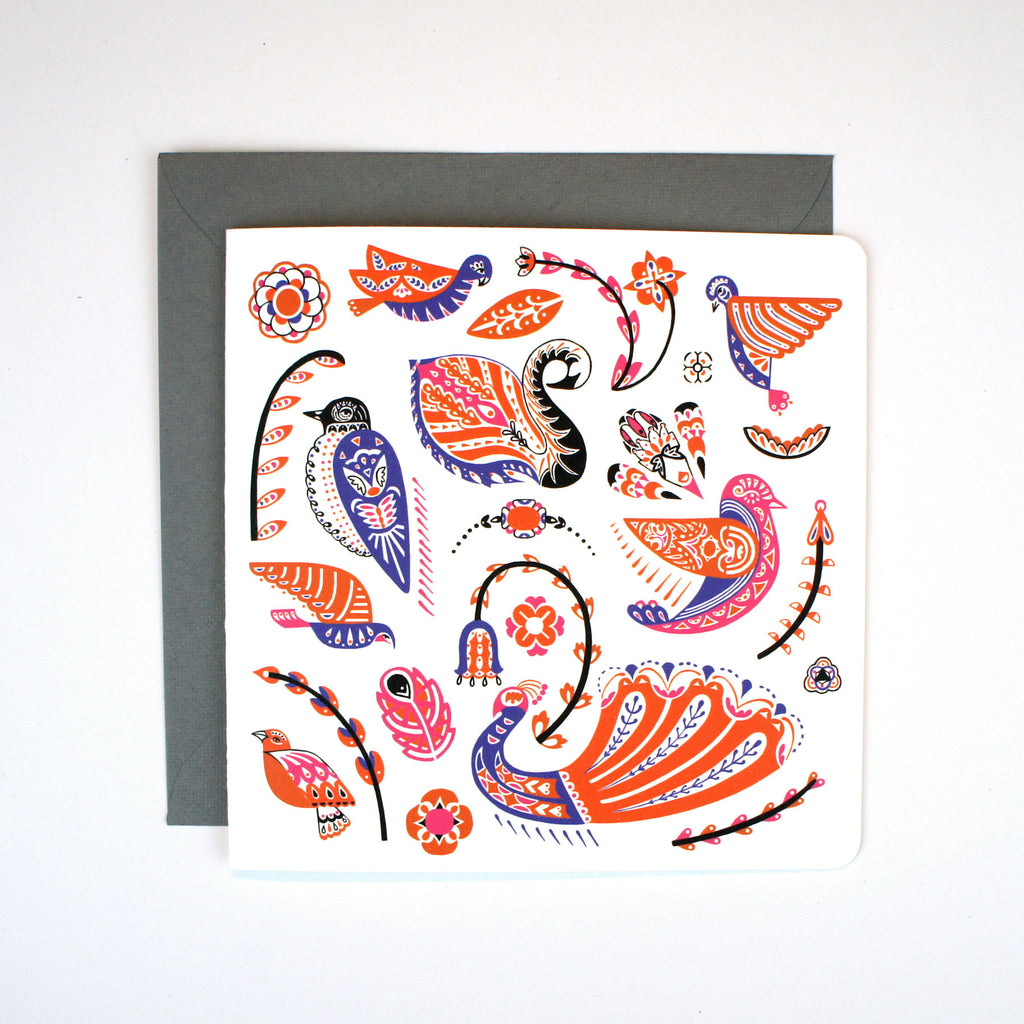 Square Card - Fly and Float Birds