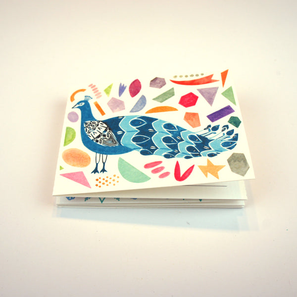 Peacock Miniature Concertina Postcard Book