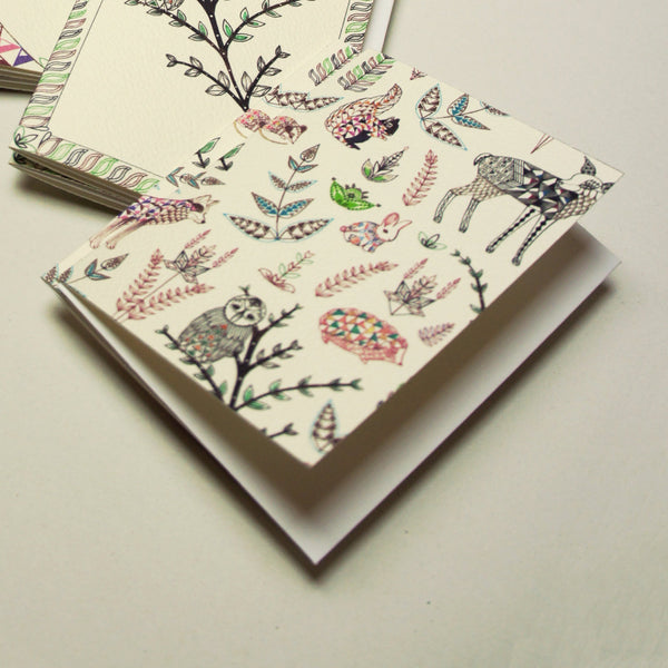 Geo Forest Mini Card