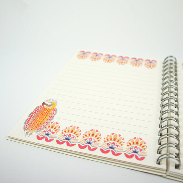 A6 Lined Notebook - Aflutter