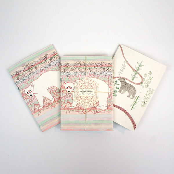 Set of Two Mini Notebooks - Bear