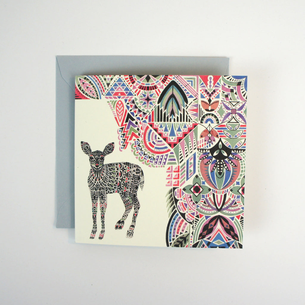 Botanist Deer Mini Card