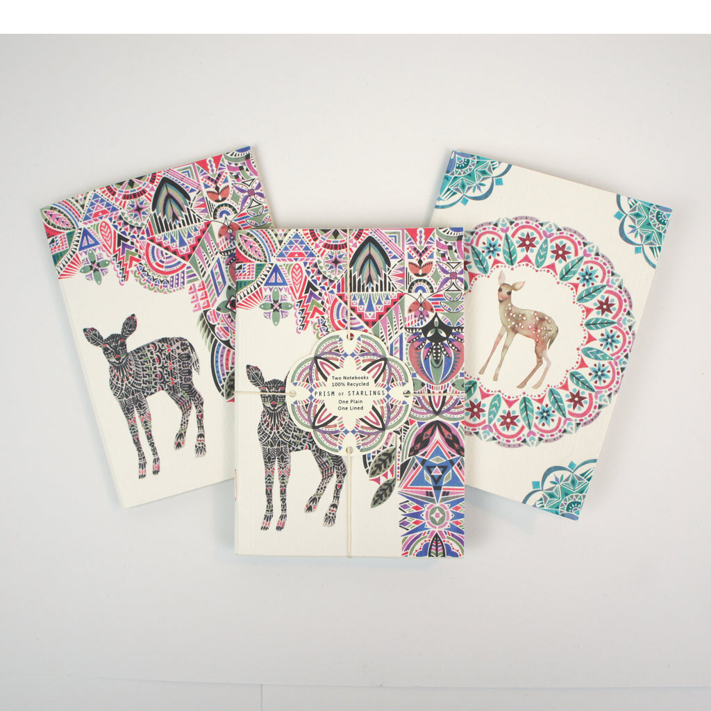 Set of Two Mini Notebooks - Deer