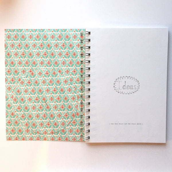 A5 Lined Notebook - The Deer Below and the Stars Above