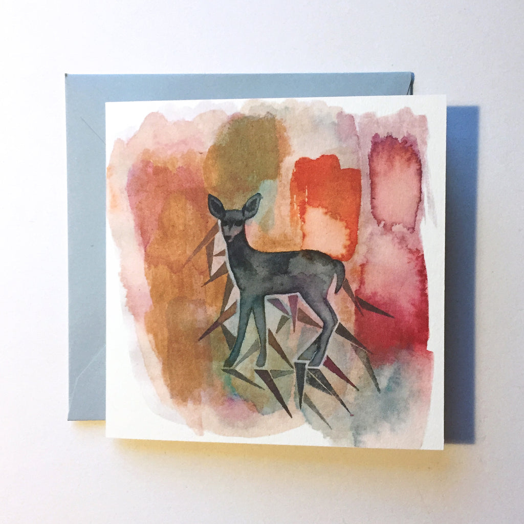Deer in the Haze Mini Card
