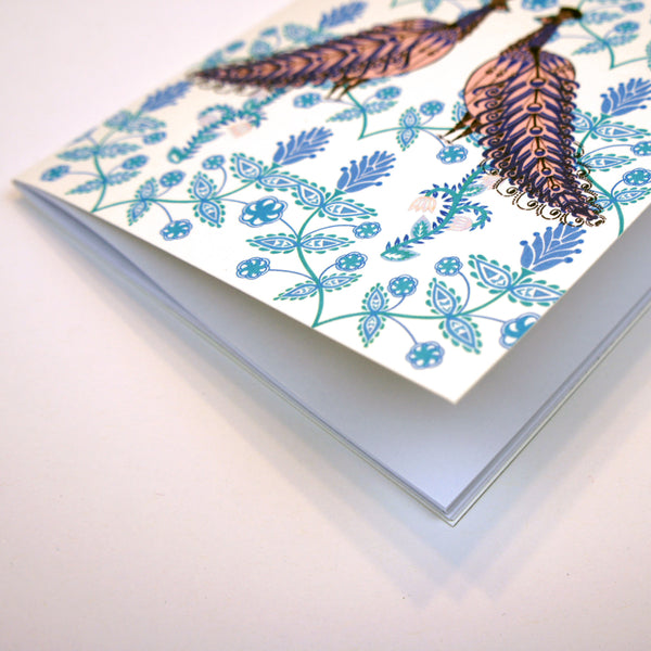 A6 Plain Notebook - Folk Peacock
