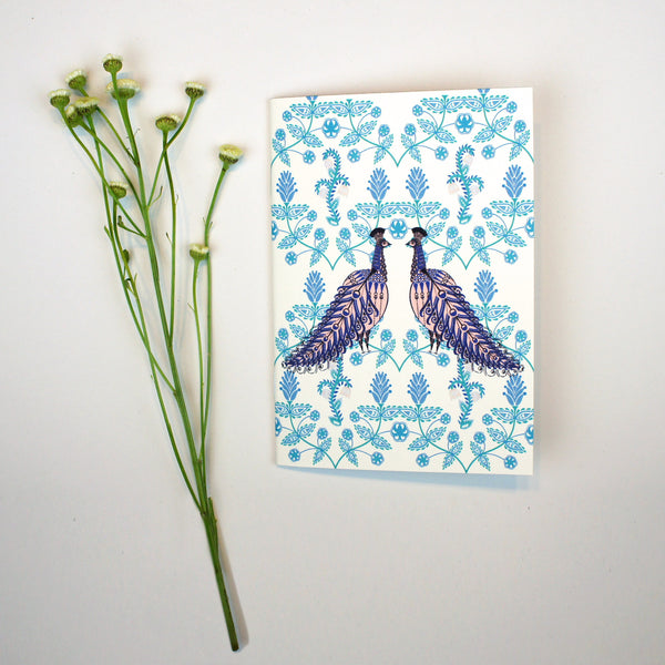 A6 Notebook - Folk Peacock
