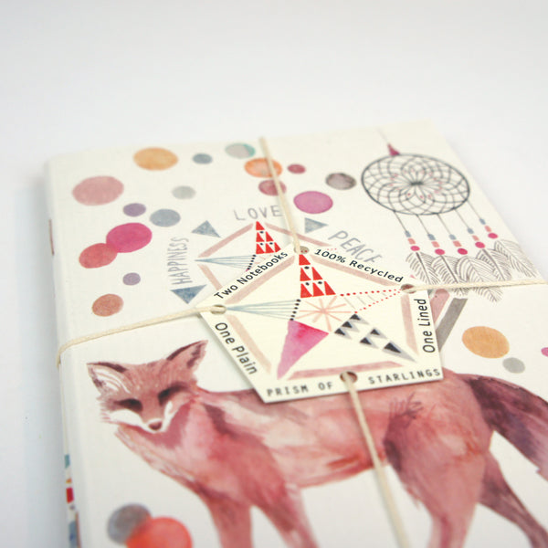 Set of Two Mini Notebooks - Fox