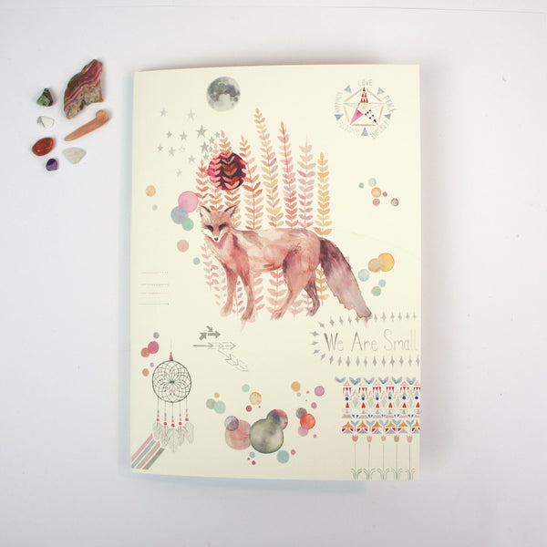 A5 Plain Notebook - Dreamcatcher Fox