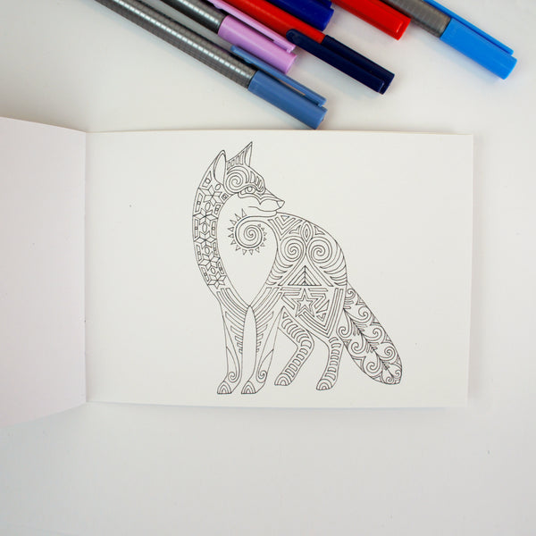 Foxes Colouring Book