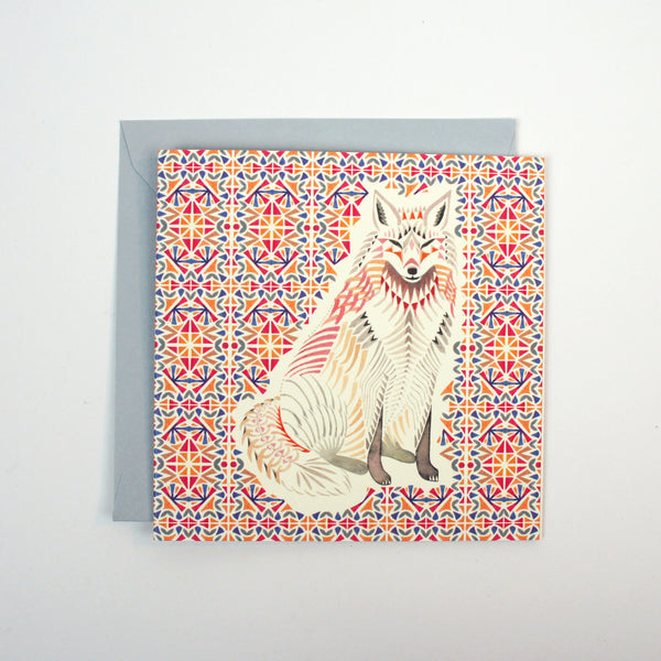 Fox Geometric Mini Card
