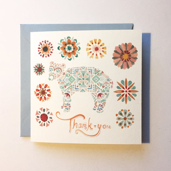Little Bear Thank-you Mini Card