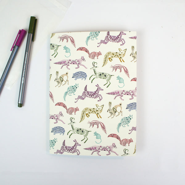 A5 Plain Notebook - Metallic Sonatas