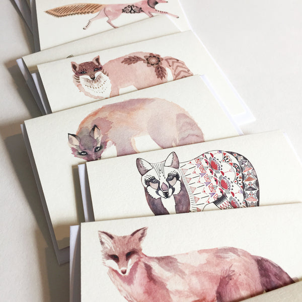 Mini Fox Cards