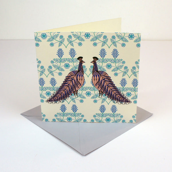 Folk Peacock Card