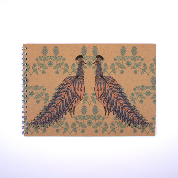 A5 Notebook - Folk Peacock