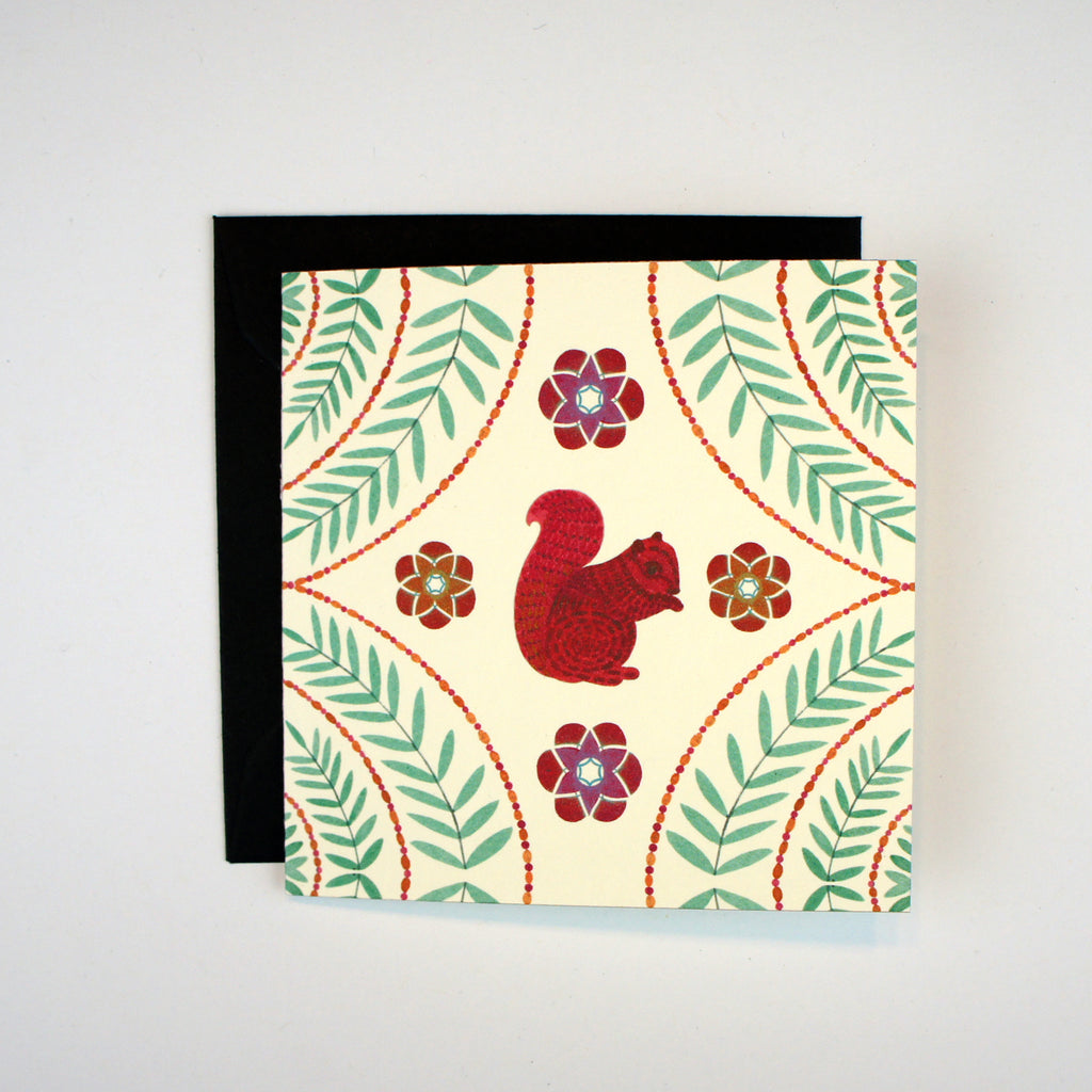 Red Squirrel Mini Card