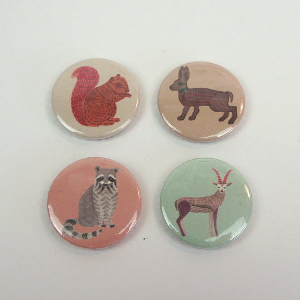 Woodland Animal Badges