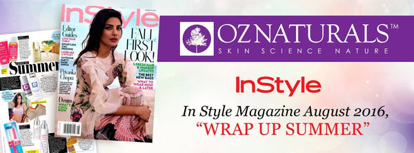 In Style Magazine-OZNaturals