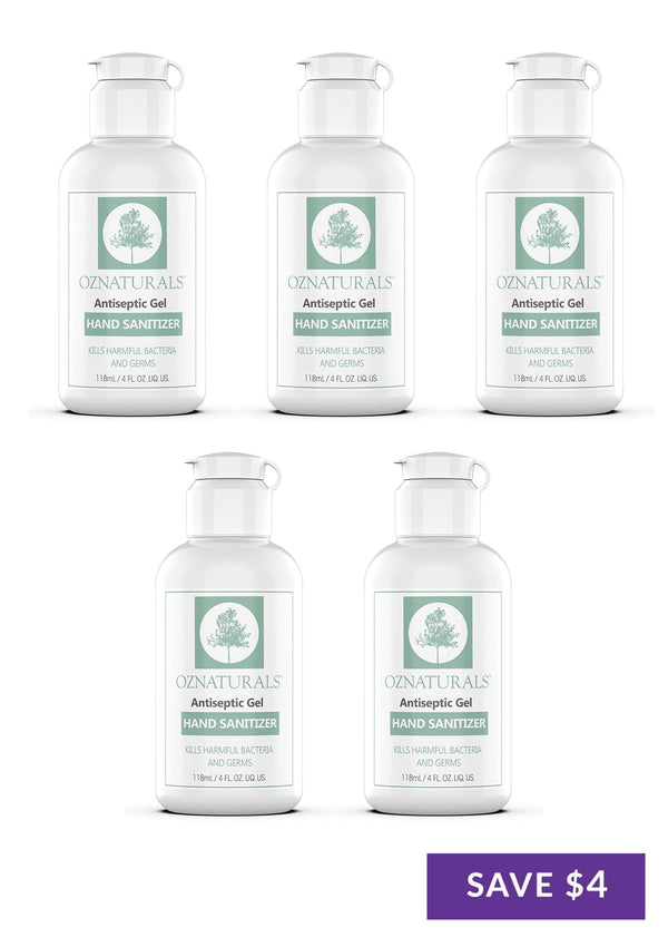 Antiseptic Gel Hand Sanitizer Bundles (5 x 4oz)