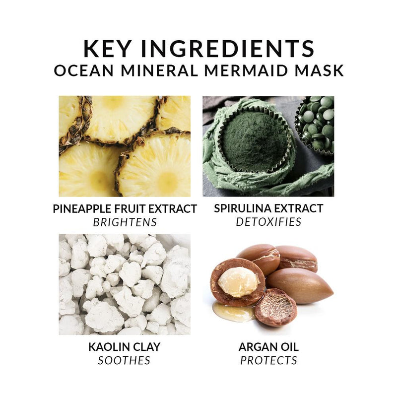 Ocean Mineral Mermaid Mask