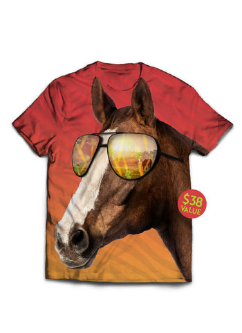Baller Horse Wearing Sunshades Full of Carrots