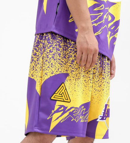 Black Pyramid Pro Standard NBA Jersey Shorts (LOS ÁNGELES LAKERS)